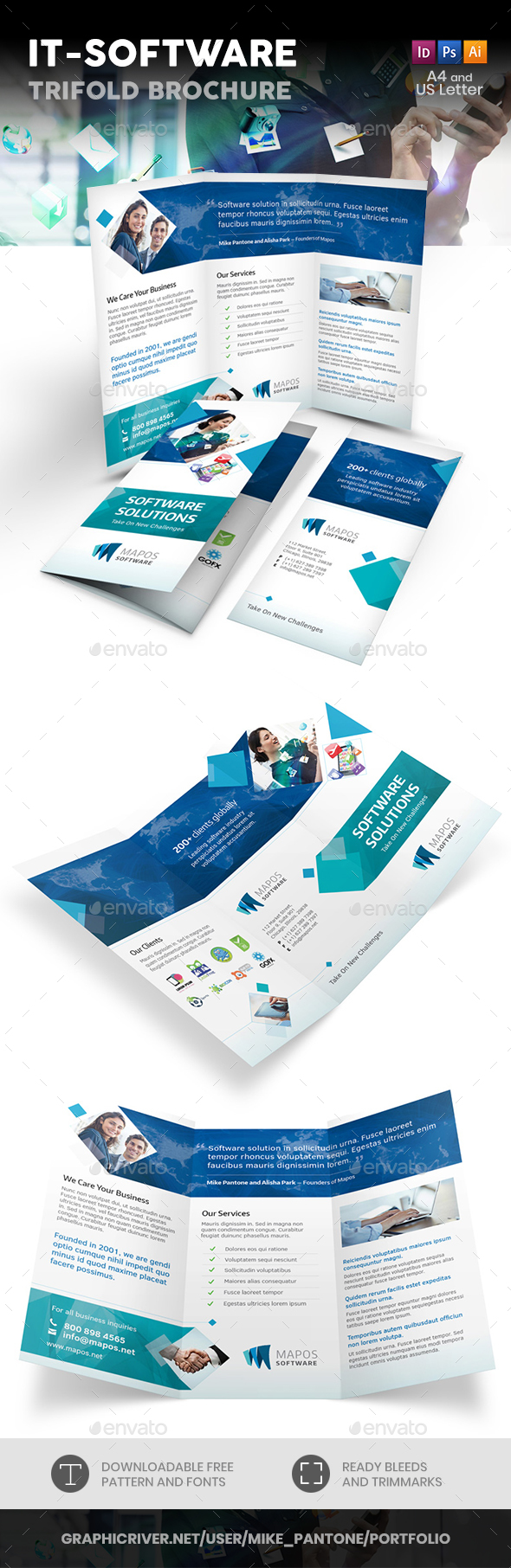 IT – Software Trifold Brochure - Informational Brochures
