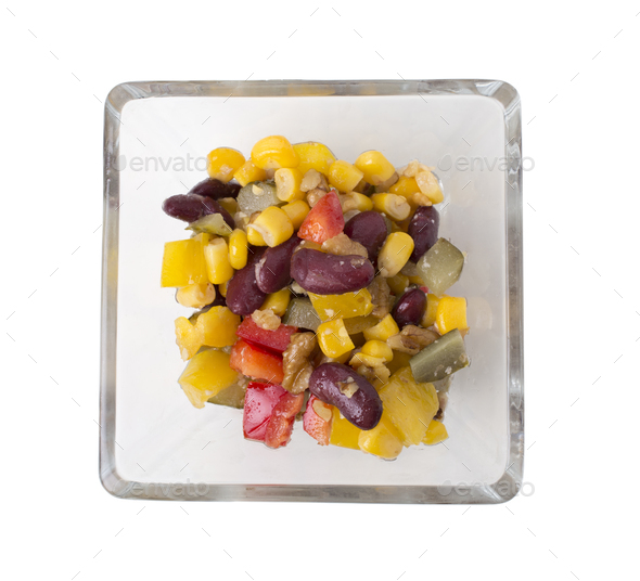 Bean and corn salad. - Stock Photo - Images