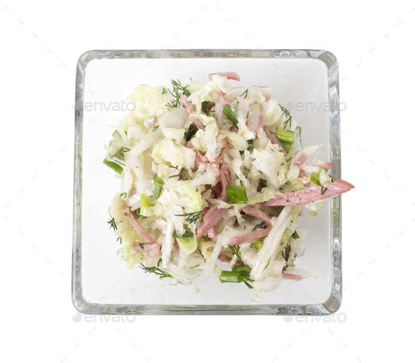 Vegetable salad with bacon. - Stock Photo - Images
