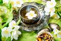East tea jasmine flowers