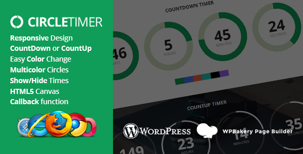 CircleTimer - Addon for WPBakery Page Builder - CodeCanyon Item for Sale