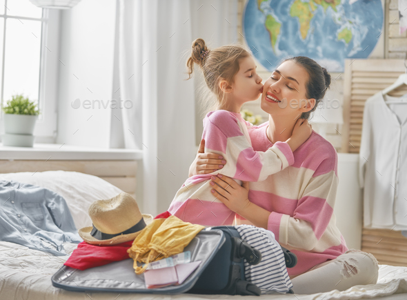 family preparing for the journey - Stock Photo - Images