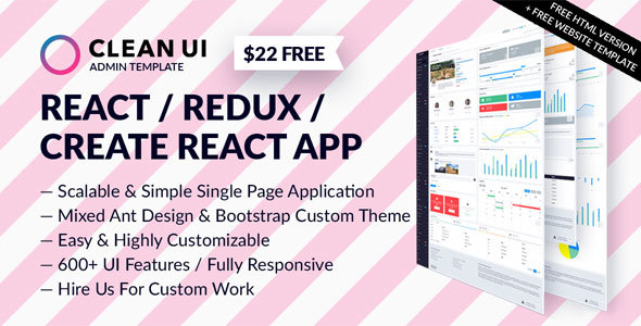 Clean UI – React Admin Template