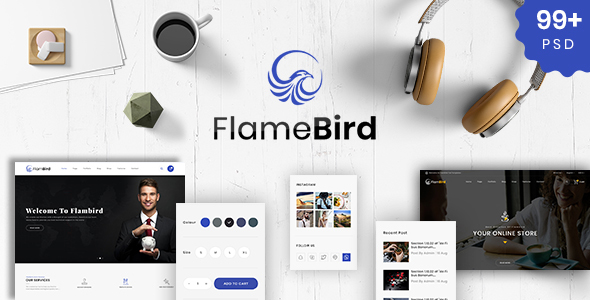 Flamebird - Multi-Purpose PSD Template - PSD Templates