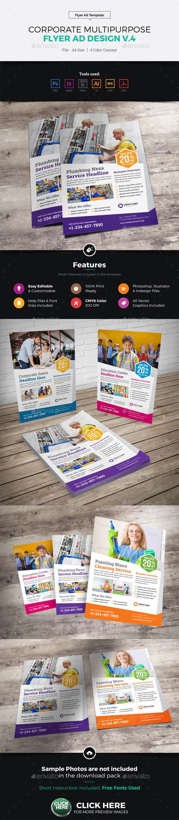 Corporate Multipurpose Flyer Ad Design v4 - Corporate Flyers