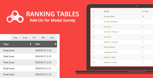 Ranking Tables - Modal Survey Add-on            Nulled