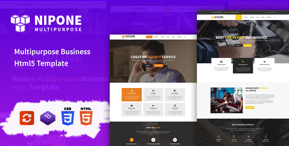 Image of Nipone – Multipurpose Business HTML5 Template