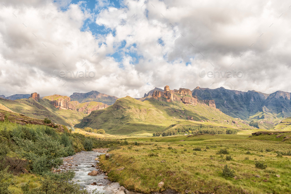 Garden Castle in the Drakensberg near Underberg - Stock Photo - Images