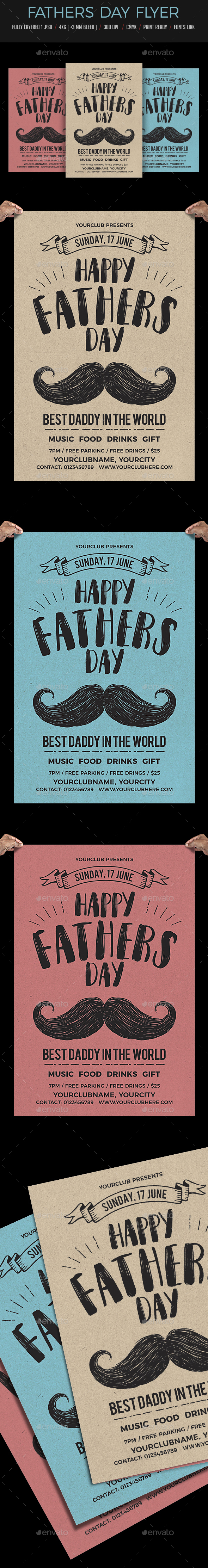 Fathers Day Flyer - Clubs & Parties Events