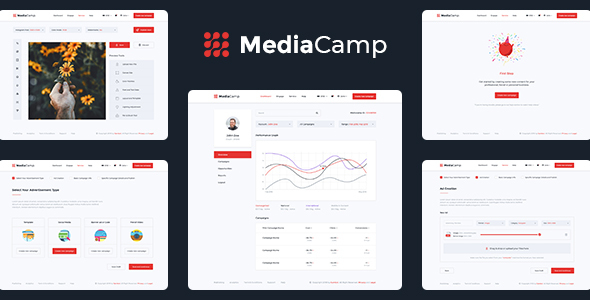 Mediacamp – Online Advertising PSD Template