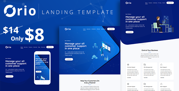 Image of Orio - Landing Template
