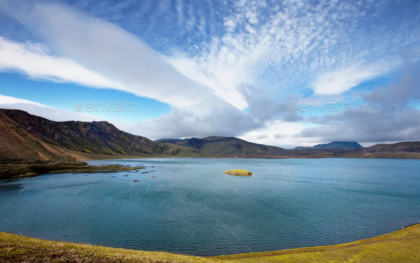 Lake in Iceland - Stock Photo - Images