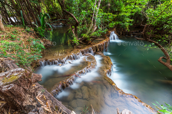 Waterfall in Thailand - Stock Photo - Images