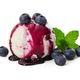 Vanilla ice cream with fresh blueberries and mint leaves, watere - PhotoDune Item for Sale