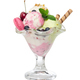 Different ice cream balls with fresh berries and wafer sticks in - PhotoDune Item for Sale