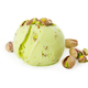 Scoop of pistachio ice cream with pistachios isolated on white - PhotoDune Item for Sale