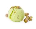 Scoop of pistachio ice cream with pistachios isolated on white - PhotoDune Item for Sale