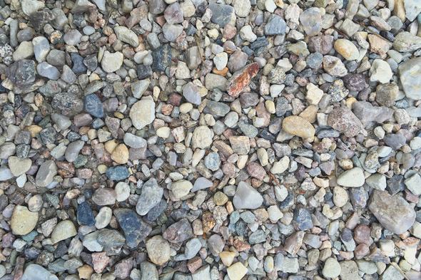 Background with dry round reeble stones - Stock Photo - Images
