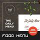 Food Menu-Graphicriver中文最全的素材分享平台