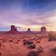 Panoramic landscape view of Monument valley at sunrise, Utah - PhotoDune Item for Sale