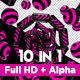 Pink Stripe Vj Loops Pack - VideoHive Item for Sale