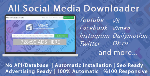 All Social Media Video Downloader - CodeCanyon Item for Sale