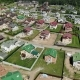 Top View of Modern Cottage Village Near Moscow, Russia - VideoHive Item for Sale