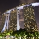 Marina Bay Sands  with Night Clouds - VideoHive Item for Sale