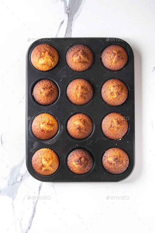 Homemade lemon muffins - Stock Photo - Images