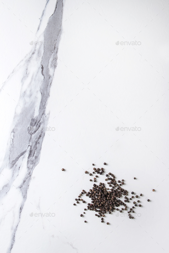 Heap of black peppers - Stock Photo - Images