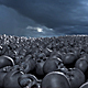 Field Of Skulls With Storm Sky - VideoHive Item for Sale