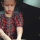 Serious Little Girl Being Concentrated on Making a Clay Ware on a Pottery Wheel - VideoHive Item for Sale