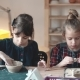 Children at the Pottery Lesson. Two Little Girls Make Clay Crafts - VideoHive Item for Sale