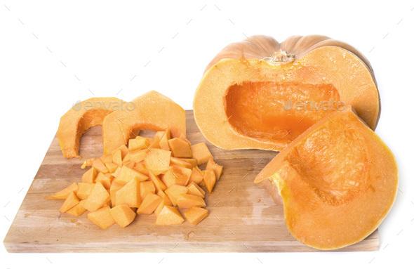 pumpkin in studio - Stock Photo - Images