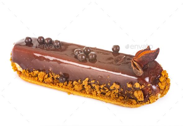 eclair pastry in studio - Stock Photo - Images