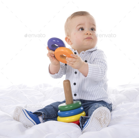 baby in studio - Stock Photo - Images