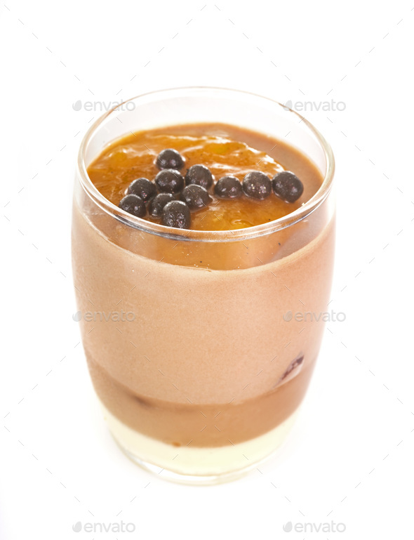 chocolate verrine in studio - Stock Photo - Images