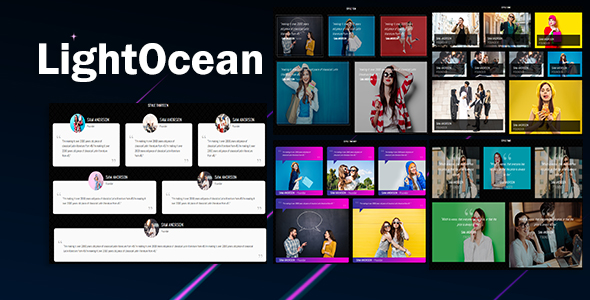 LightOcean - Testimonial Cards Showcase HTML5            Nulled