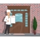 Vector Chef Man with Menu Inviting To Restaurant - GraphicRiver Item for Sale
