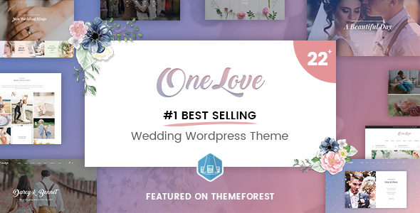 OneLove – The Elegant & Clean Multipurpose Wedding WordPress Theme