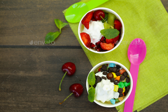 Frozen Yogurt - Stock Photo - Images
