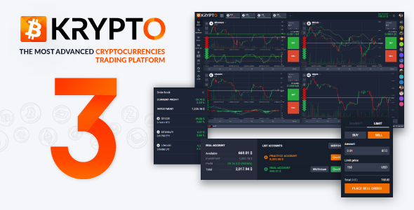 Krypto - Live Trading, Advanced Data, Market Analysis, Watching List, Portfolio, Subscriptions, ... - CodeCanyon Item for Sale