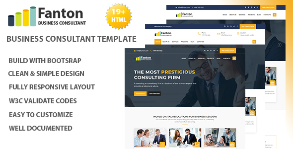 Fanton – Consulting & Business HTML Template
