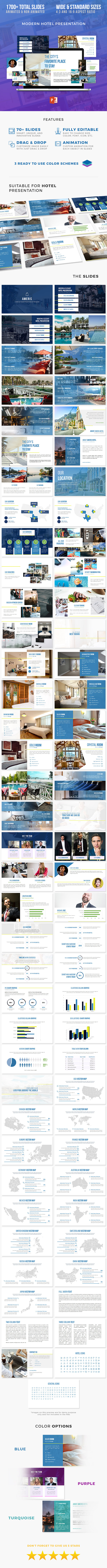 Travel & Hotel Presentation Template - PowerPoint Templates Presentation Templates