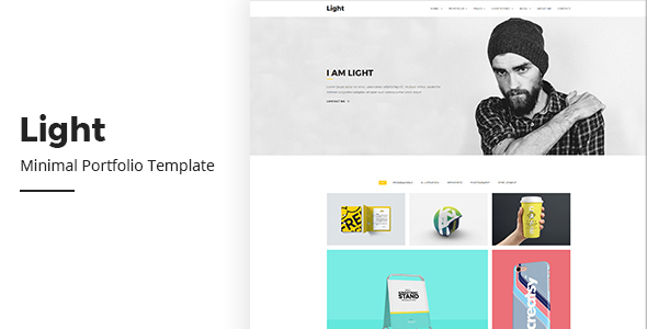Light Minimal Portfolio - Creative Site Templates
