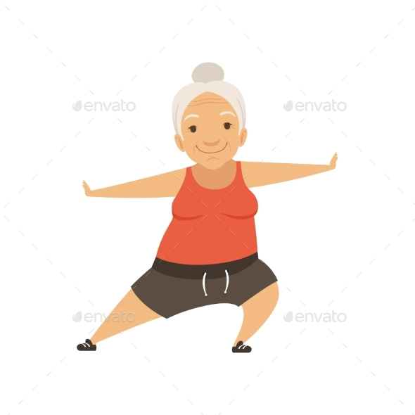 Grey Senior Woman Doing Sports, Grandmother - Sports/Activity Conceptual