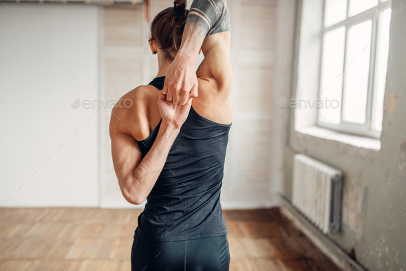 Male yoga on training, flexibility of human body - Stock Photo - Images