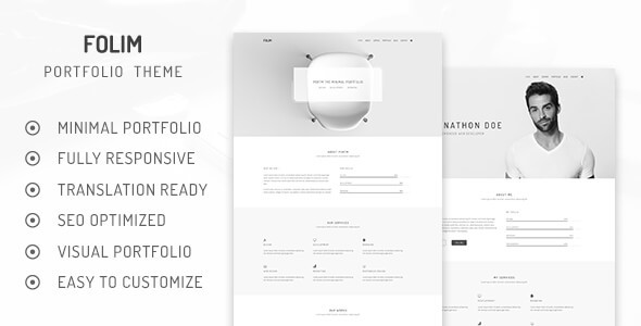 Image of Folim - Clean Minimalist Portfolio WordPress Theme