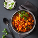 sweet potato and chickpea curry with naan bread - PhotoDune Item for Sale