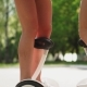 Beautiful Shapely Legs Young Girls in Short Chertah  on White Gyrometer the Electric Segway Rid - VideoHive Item for Sale